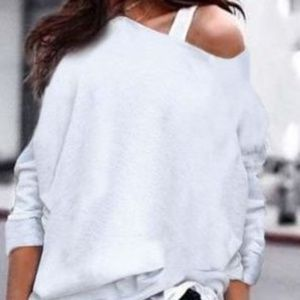 Off Shoulder Solid Color Full Sleeve Top